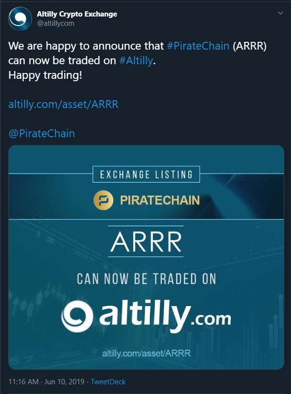 8th Exchange Listing