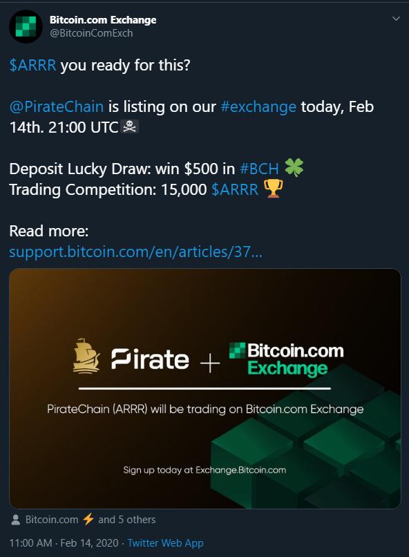 14th Exchange Listing