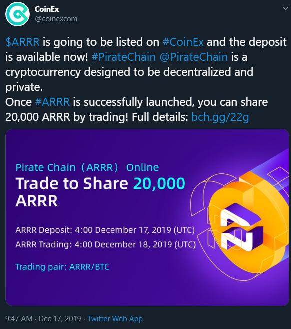 12th Exchange Listing