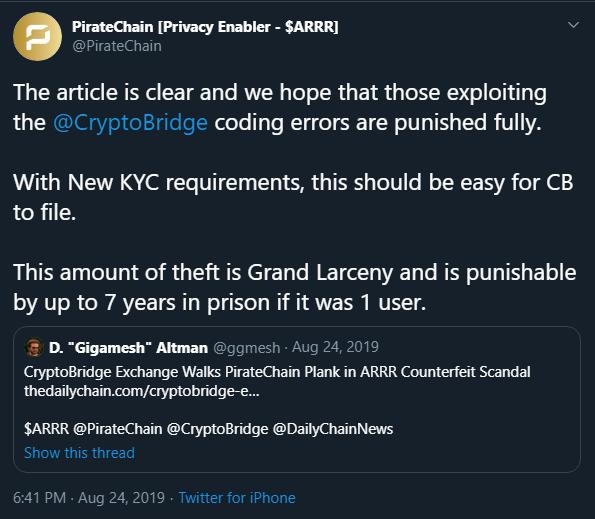 CryptoBridge Scandal