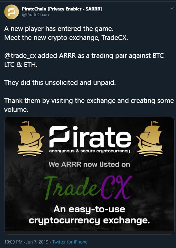 7th Exchange Listing