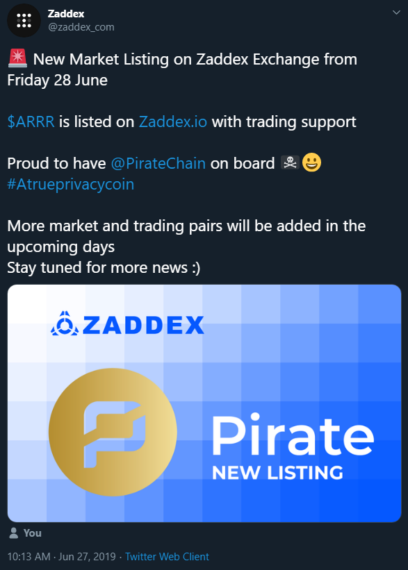 9th Exchange Listing
