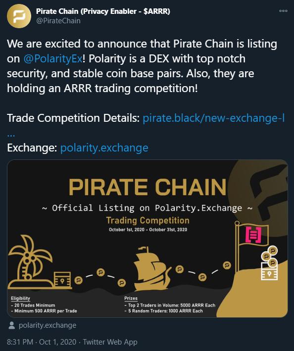 16th Exchange Listing